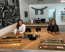 Load image into Gallery viewer, Copy of 11-2-2019- (Saturday) - 11:00am - PLANK SIGN WORKSHOP - $35.00 - $45.00  (Downtown Kirkland Studio)