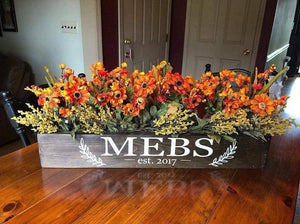 10/23/2019 - (Saturday) - (6:00pm) - CENTERPIECE BOX and WOOD PLANK Workshop