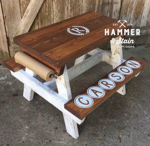"Personalized CHILDREN'S ACTIVITY TABLE - ""HAMMER-IT-AT-HOME Kit""- Downtown Kirkland"
