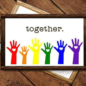 """TOGETHER"" Wood Plank Sign - Framed - MAKE-IT-AT-HOME KIT - SPECIAL"