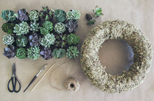"Load image into Gallery viewer, ""SUCCULENT WREATH"" KIT  -"" Make it at Home"" KIT - PRE-ORDER AVAILABLE"