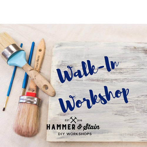 5/22/2019 - (Noon-4:00pm) - Walk-In Workshop -