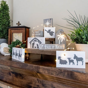"D-I-Y ""NATIVITY SCENE"" SET - Includes Everything You Need! (No Experience Necessary)."