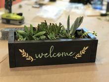 "Load image into Gallery viewer, ""Wood Box and Succulent Garden"" KIT -  Downtown Kirkland Pick-up"