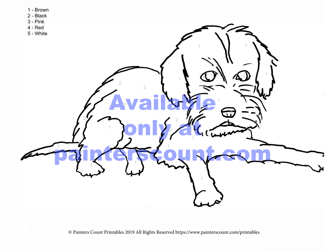 Free Printable - Kramer (puppy)