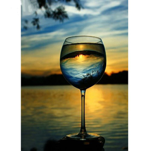 Sunset Reflection in Wine