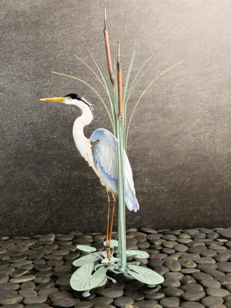 Tabletop Heron In Cattails