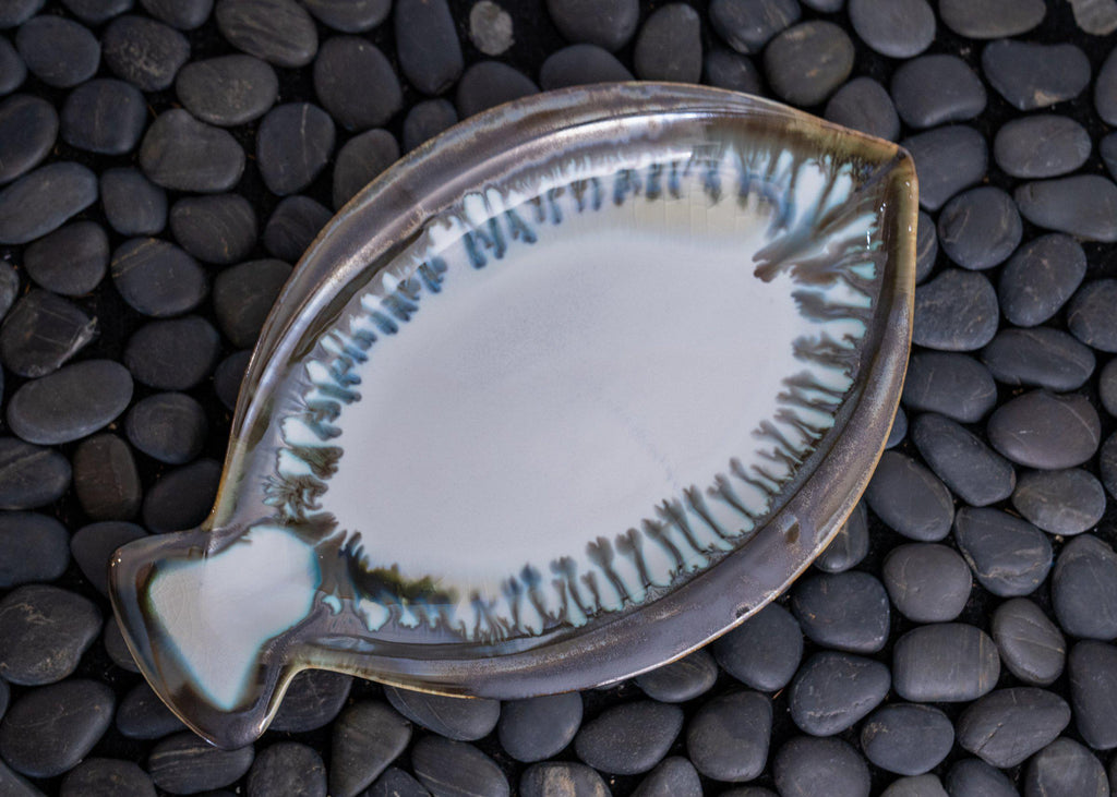 Fish Plate-Seabreeze-Edgecomb Potters