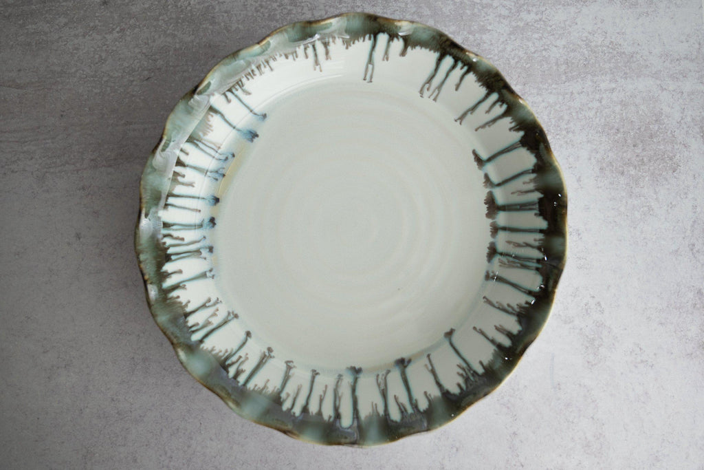 Deep Dish Pie Plate-Seabreeze-Edgecomb Potters