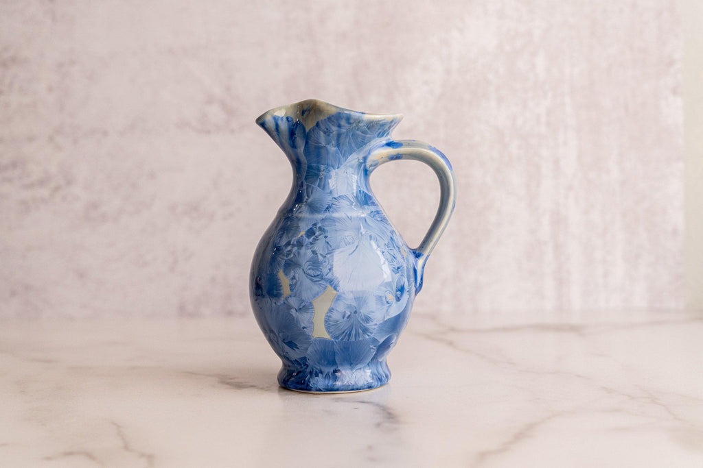 Traditional Pitcher, small — 14oz-Bahama Blue-Edgecomb Potters