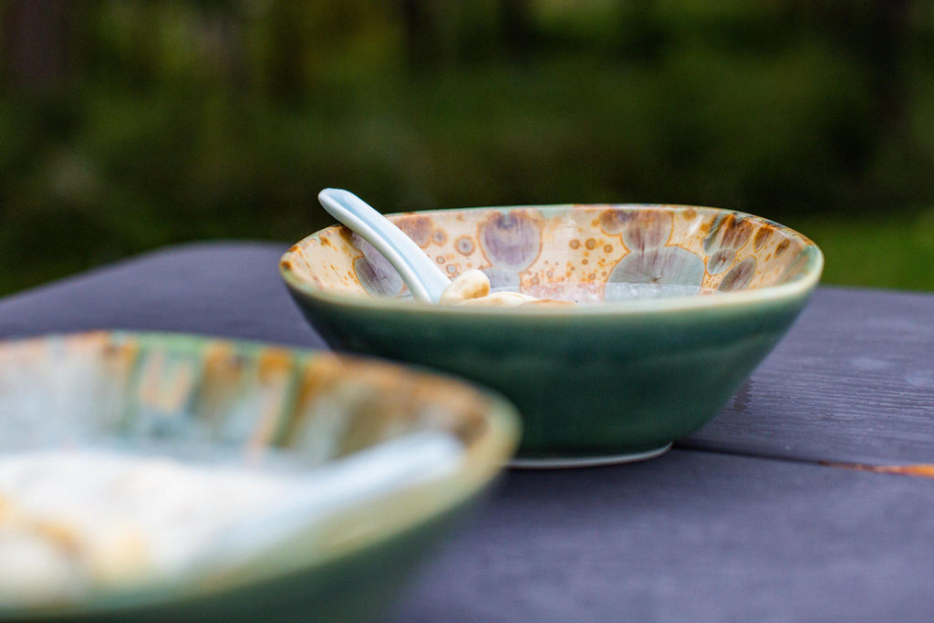 Chowder Bowl-Amber-Edgecomb Potters