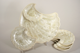 Shell Appetizer Plate-Mother of Pearl-Edgecomb Potters