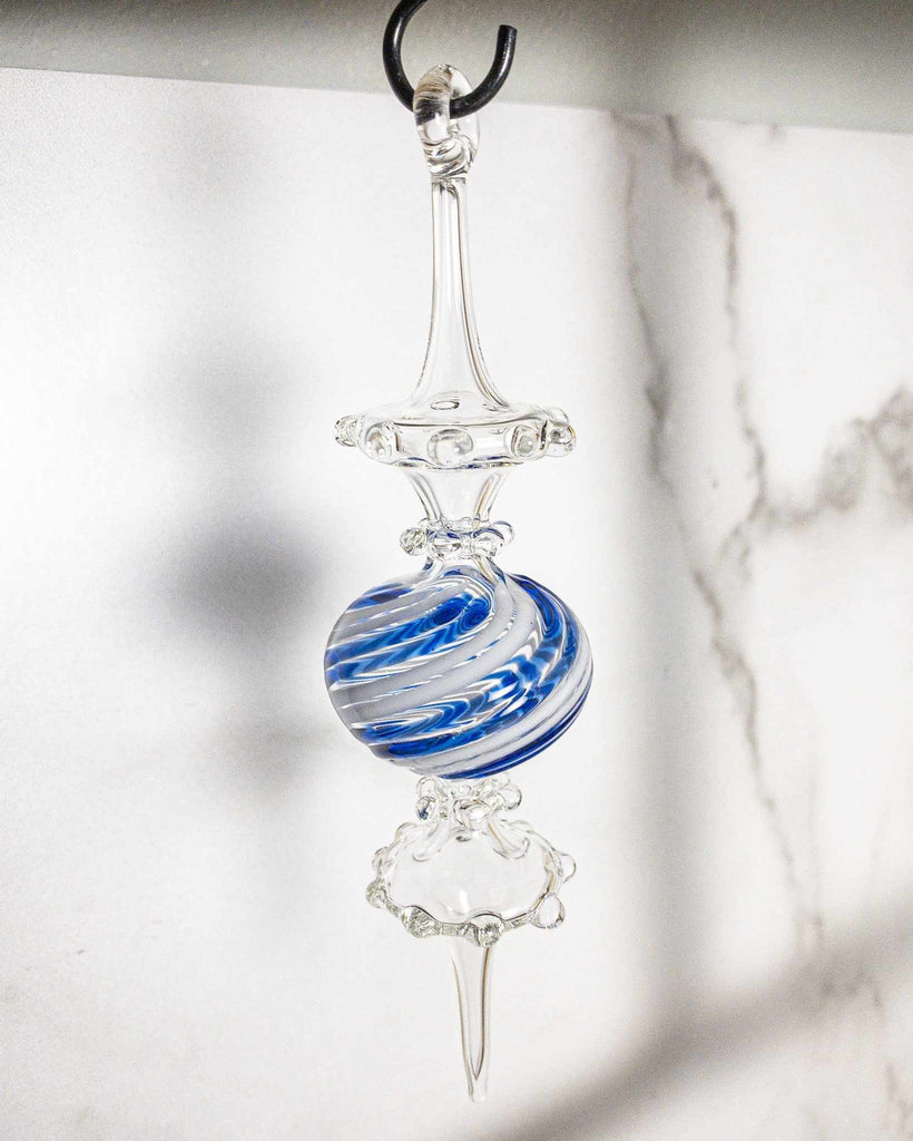 Jester Ornament Cobalt/White