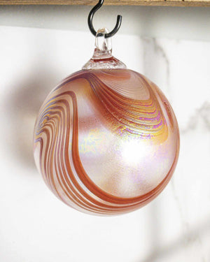 Poppy Swirl Ornament - Edgecomb Potters