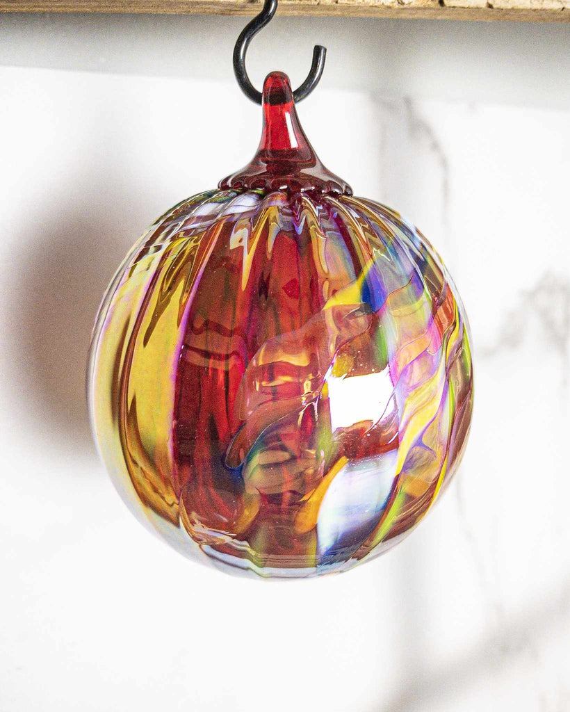 Holiday Swirl Ornament - Edgecomb Potters