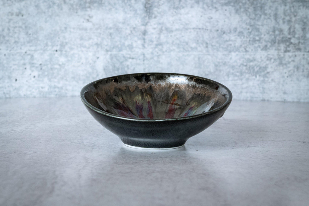 Mini Presentation Bowl-Red with Metal-Edgecomb Potters (4127873728652)