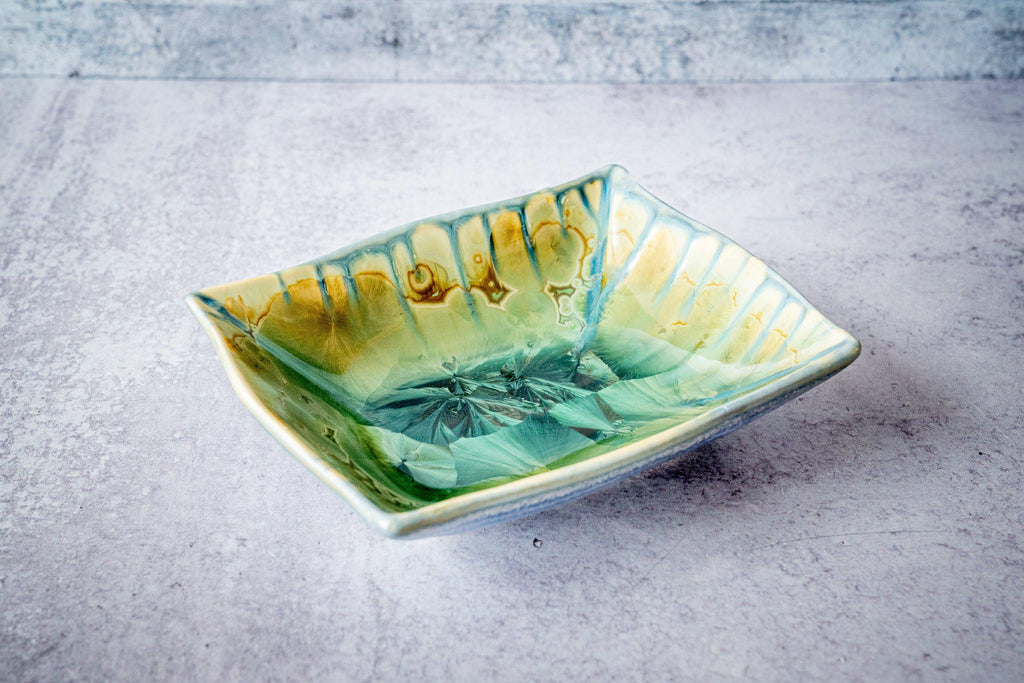 Rectangular Bowl, small-Honey Green-Edgecomb Potters (4127876317324)