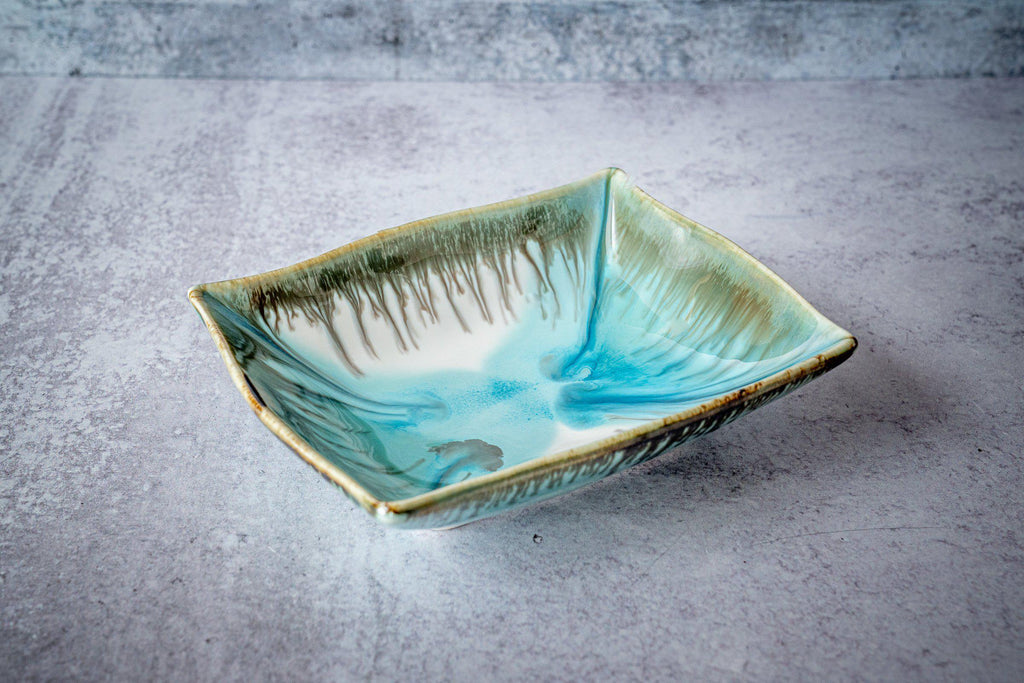 Rectangular Bowl, small-Seaglass-Edgecomb Potters (4127876317324)
