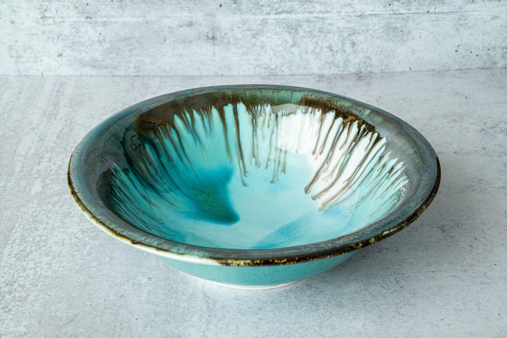Serving Bowl-Seaglass-Edgecomb Potters (4127875465356)