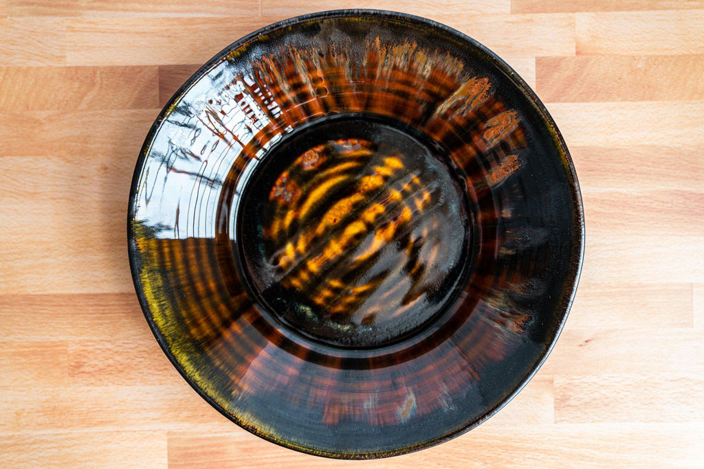 "Thrown Bowl, large ~12.5""-Kyoto Forest-Edgecomb Potters (4127873106060)"