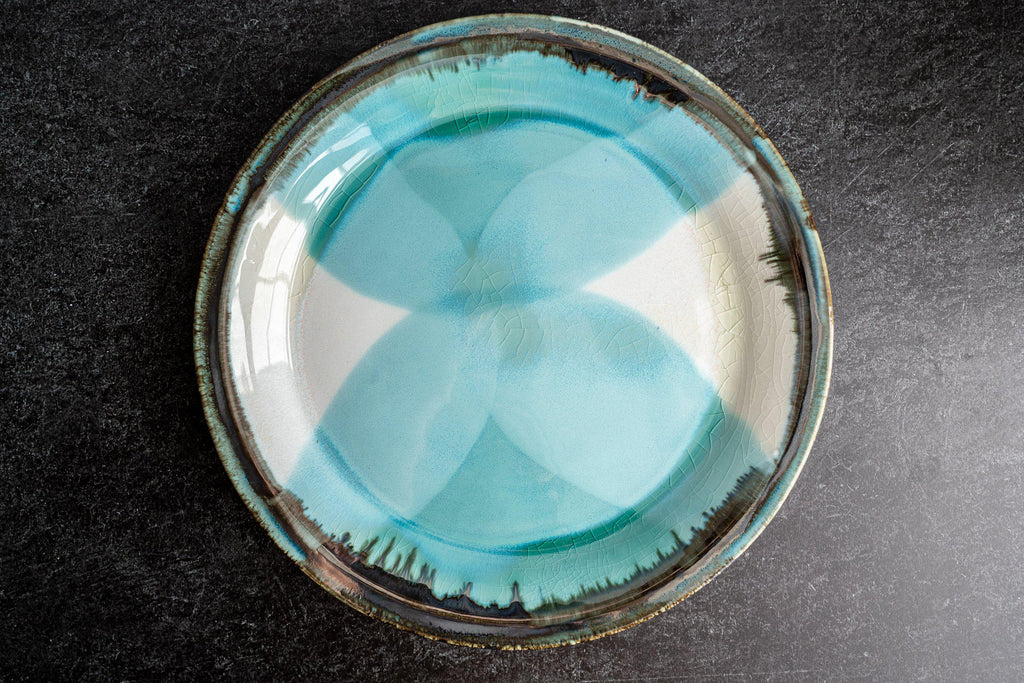Thrown Dinner Plate-Seaglass-Edgecomb Potters (4047345909832)