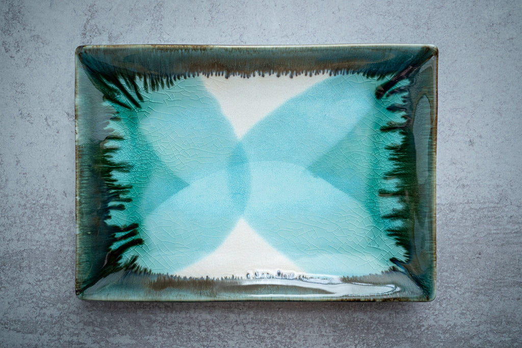 Rectangular Plate-Seaglass-Edgecomb Potters (4127874908300)