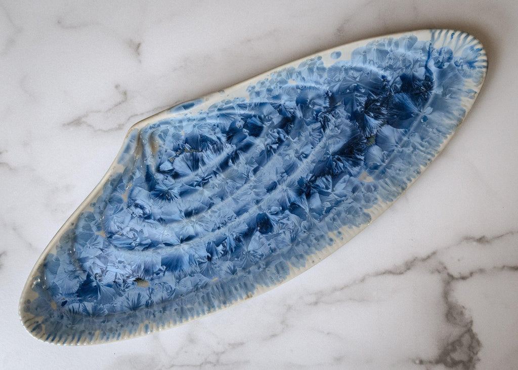 Mussel Shell Platter-Bahama Blue-Edgecomb Potters (4047345221704)