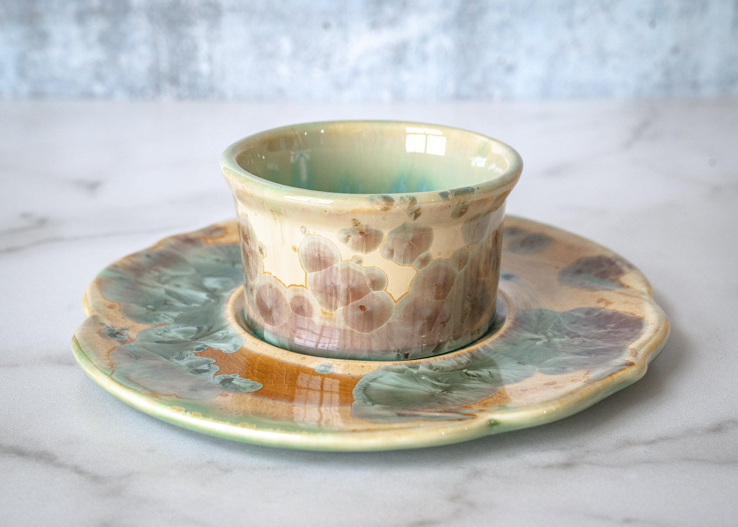 Appetizer - Bowl - Plate - Saltmeadow Glaze - Serveware - Small Server - Pottery - Edgecomb Potters
