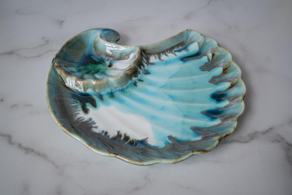 Appetizer Shell-Seaglass-Edgecomb Potters (4127875563660)