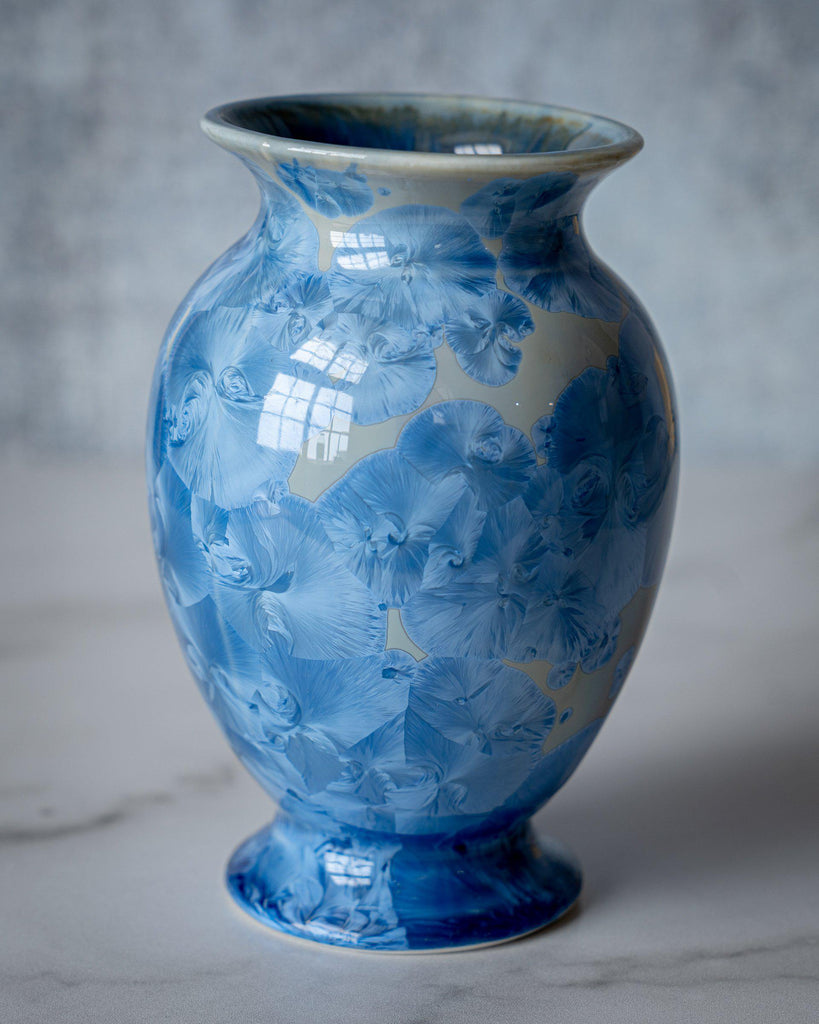 Lady Vase, small-Bahama Blue-Edgecomb Potters (4047345090632)