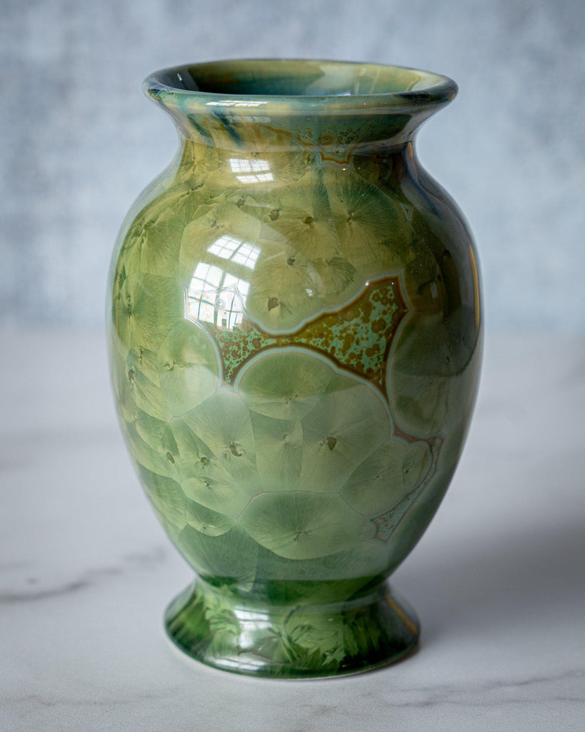 Lady Vase, small-Honey Green-Edgecomb Potters (4047345090632)
