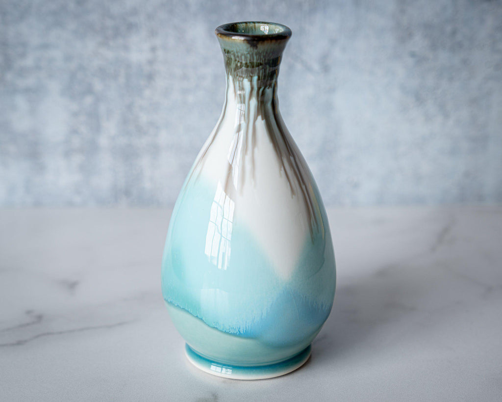 Friendship Vase, slender-Seaglass-Edgecomb Potters (4127875760268)