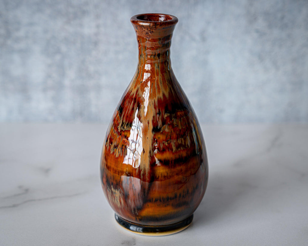 Friendship Vase, slender-Kyoto Forest-Edgecomb Potters (4127875760268)