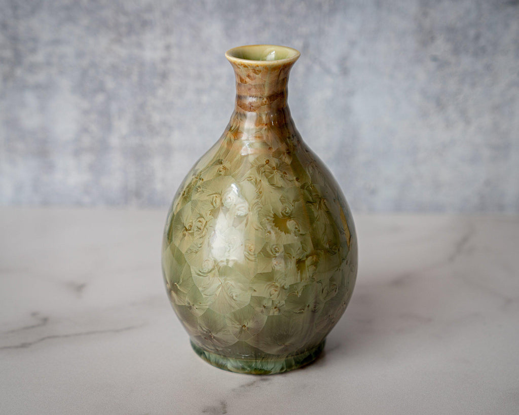 Friendship Vase, small-Honey Green-Edgecomb Potters