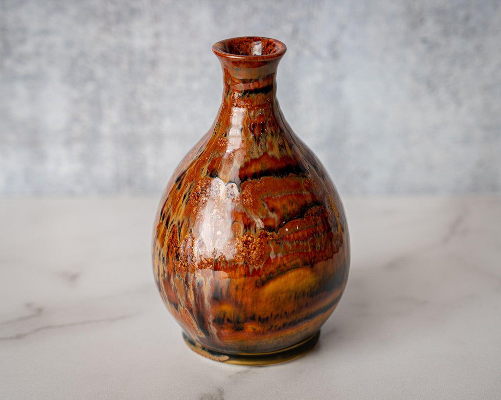 Friendship Vase, small-Kyoto Forest-Edgecomb Potters