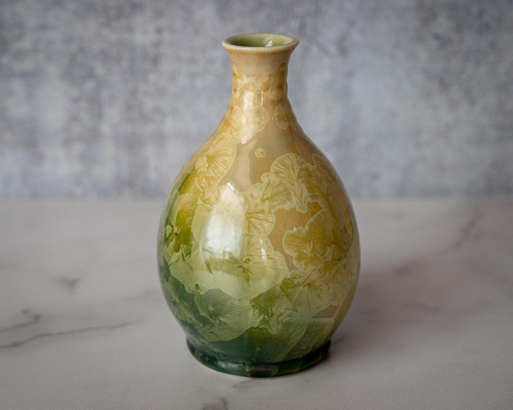 Friendship Vase, small-Tropical Paradise-Edgecomb Potters
