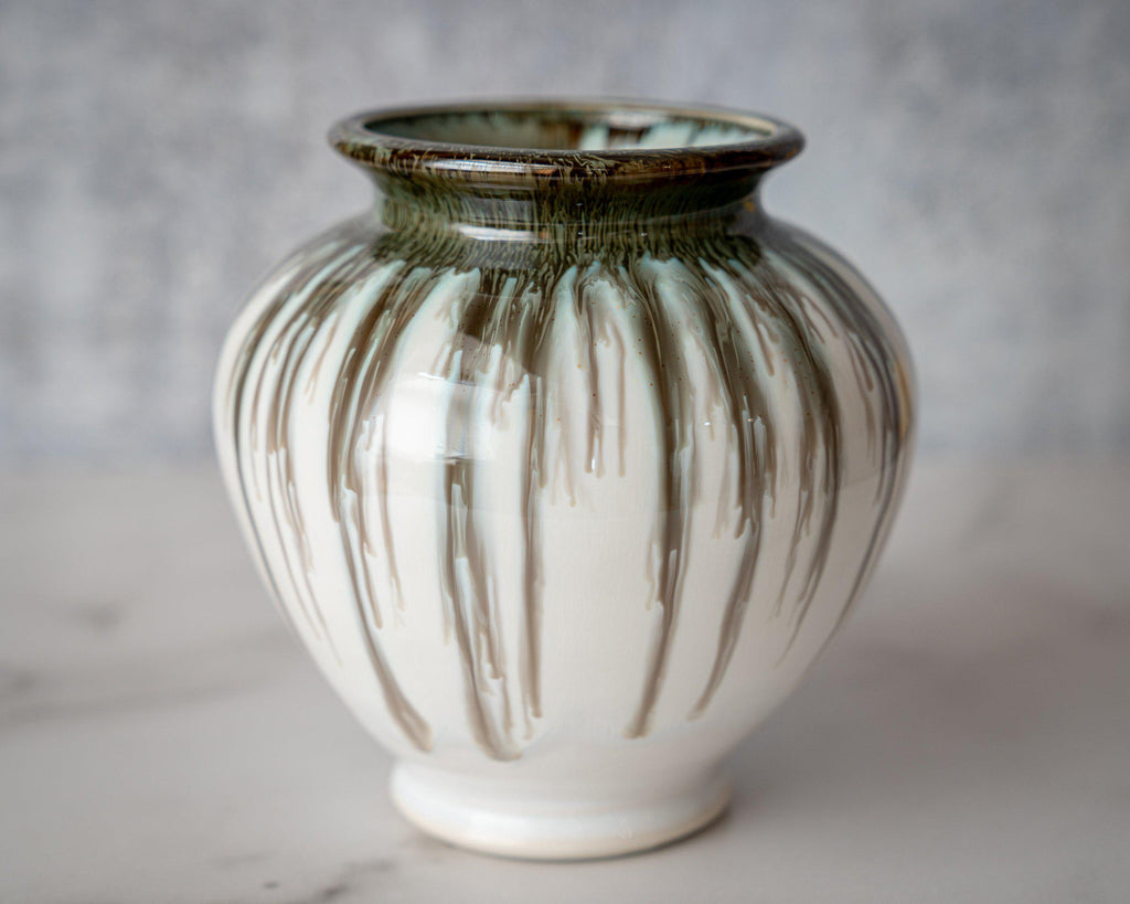 Ginger Jar Vase-Seabreeze-Edgecomb Potters