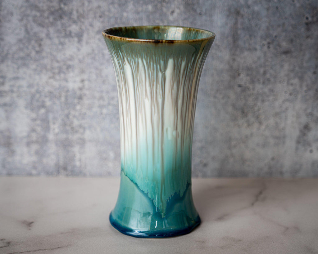 Bouquet Vase-Seaglass-Edgecomb Potters (4047343779912)