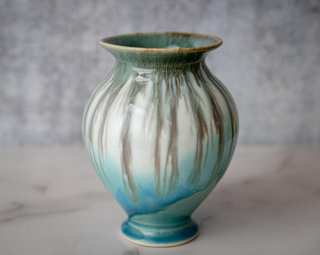 Gathering Vase, small-Seaglass-Edgecomb Potters (4127875956876)