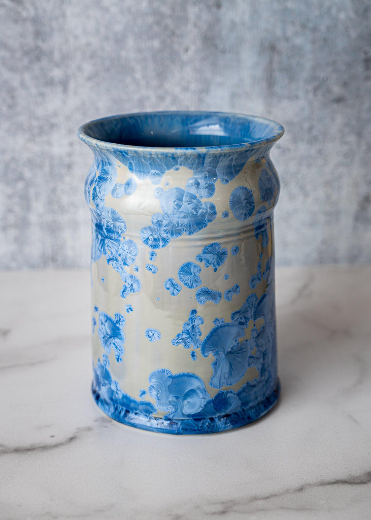 Utensil Container-Bahama Blue-Edgecomb Potters (4127878316172)