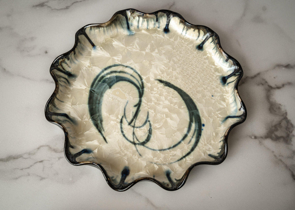 Cake Plate-Winter Storm-Edgecomb Potters