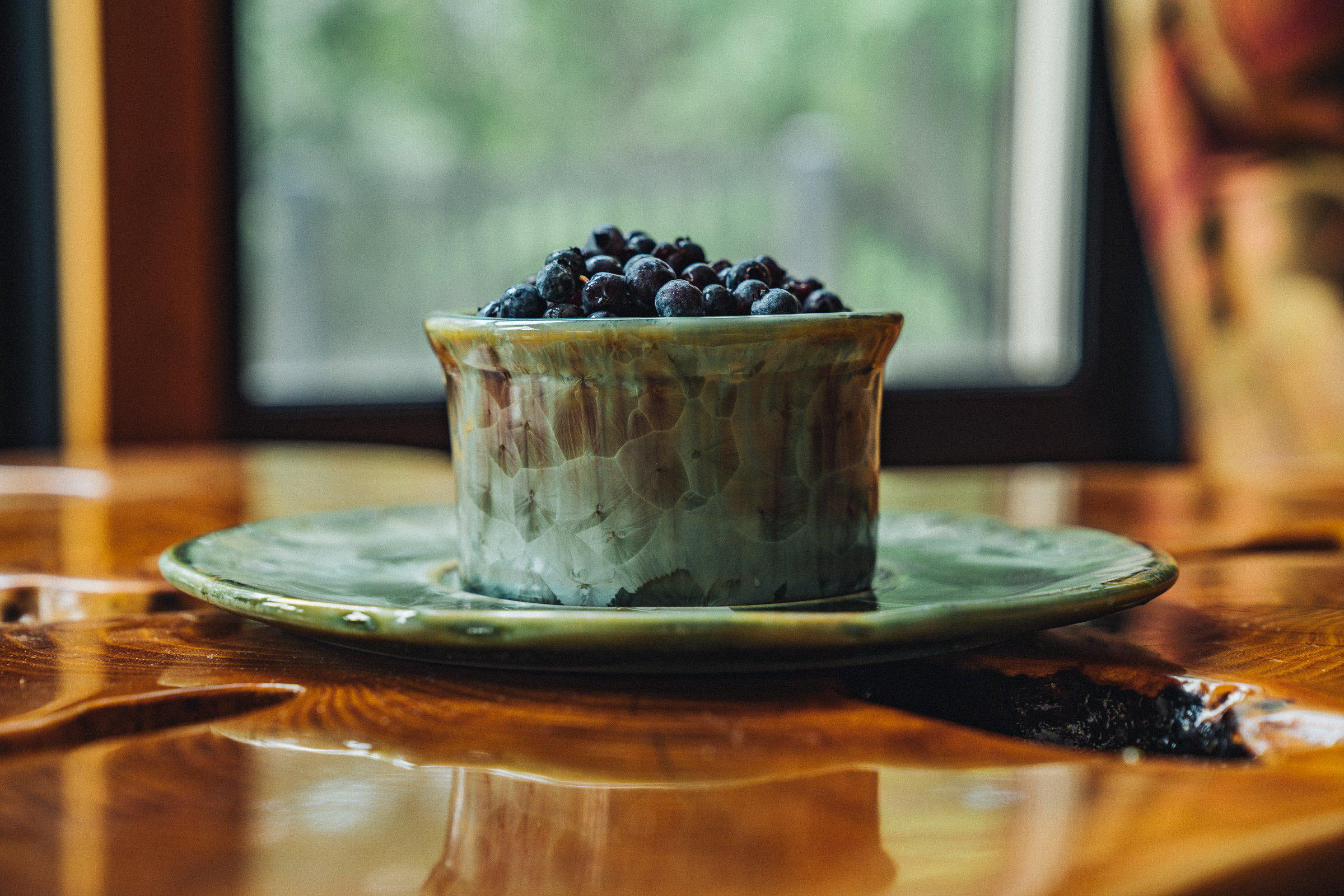 Appetizer - Bowl - Plate - blueberries -Saltmeadow Glaze - Serveware - Small Server - Pottery - Edgecomb Potters