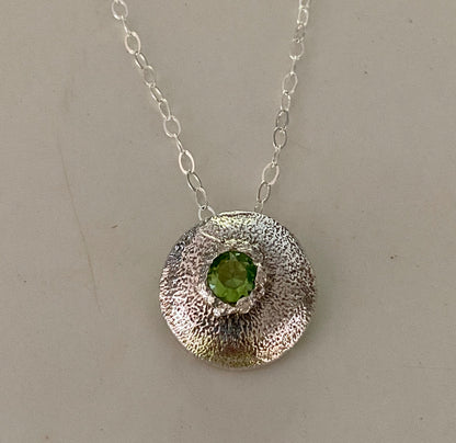 Green CZ Dome Necklace - Edgecomb Potters