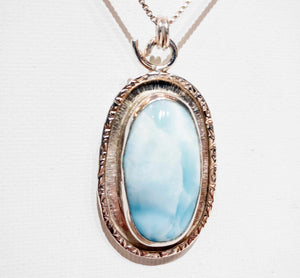 Larimar Frame Necklace - Edgecomb Potters