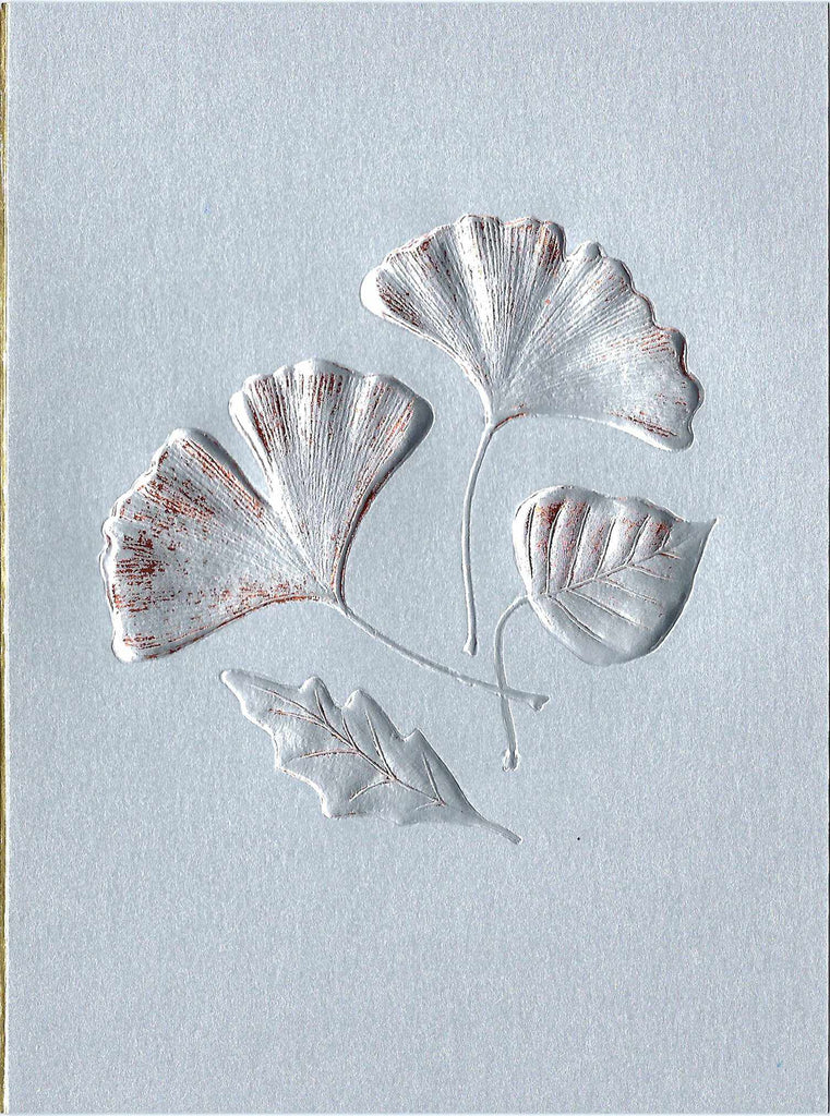 Leaf Medley - Silver & Coper Foil on Sterling Card