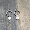 Large Circle Earrings With Pearl - Edgecomb Potters
