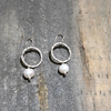 Medium Circle Earrings With Pearl - Edgecomb Potters