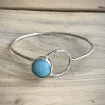 Amazonite Latch Bracelet - Edgecomb Potters