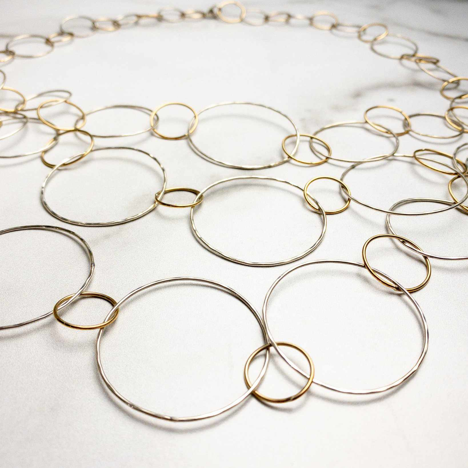 Cascading Circles Necklace - Edgecomb Potters