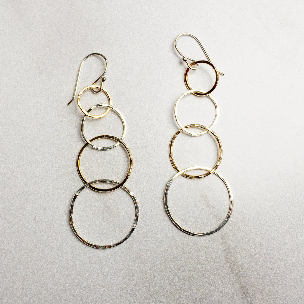 Four Circle Earrings - Edgecomb Potters